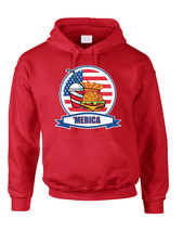 Adult Hoodie Fast Food 'merica Love USA 4th Of July Top - $23.94+
