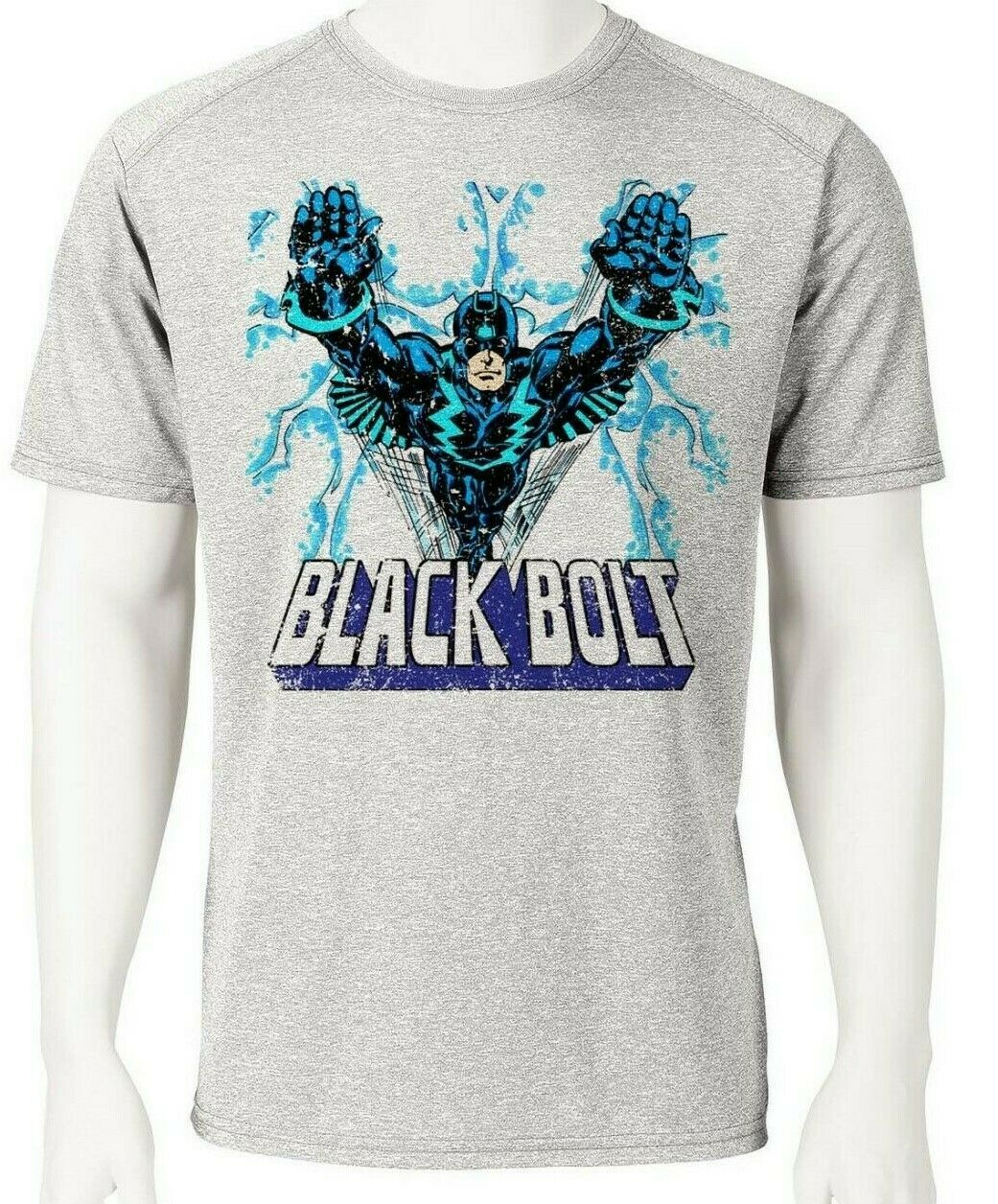 Black bolt dri fit graphic tshirt moisture retro