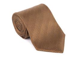 "NEW Tom Ford Geometric Tonal Zip Zag 3.25"" Silk RTL$260 Brown Tie NWT - $115.43"