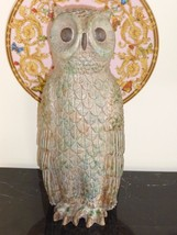 LISTED ARTIST PAUL BELLARDO IMPRESSIVE ORIGINAL ARTWORK POTTERY OWL SCUL... - $349.00