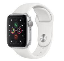 Apple Watch Series 5 (GPS,40mm,Silver Aluminum,White Sport Band)-1 year ... - €449,94 EUR