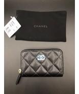 CHANEL Black Caviar Zip Around Small Wallet - NWT - $761.31