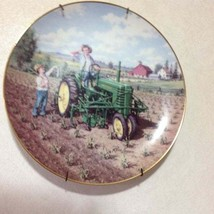 EARTH'S BOUNTY Plate More Deere Memories #3 of 4 Ross Logan John Deere M... - $25.00