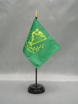"ERIN GO BRAGH 4X6"" TABLE TOP FLAG W/ BASE NEW DESK TOP HANDHELD STICK FLAG - $4.95"