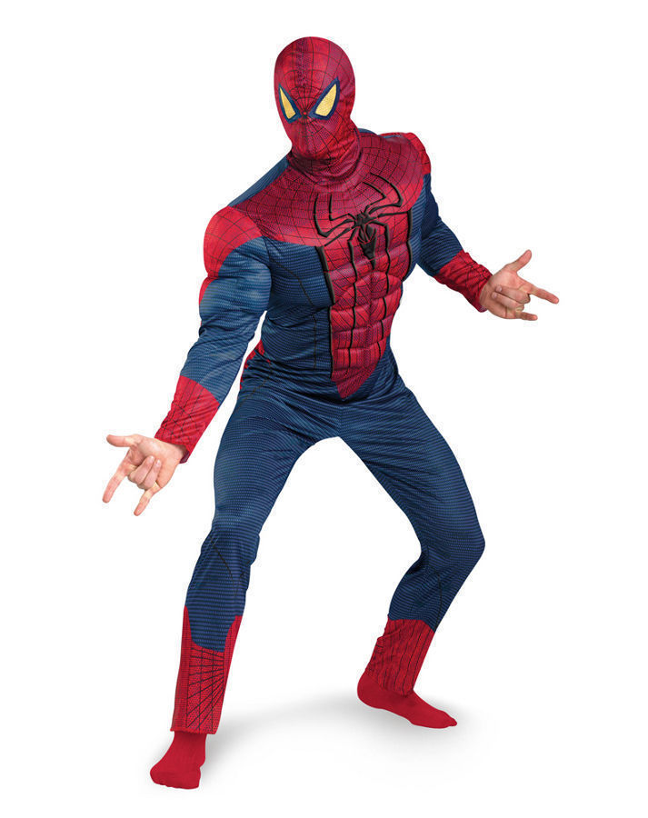Deluxe Spider-Man Classic Muscle Adult Halloween Costume XXL