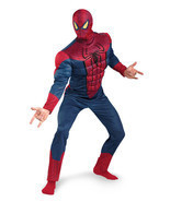 Deluxe Spider-Man Classic Muscle Adult Halloween Costume XXL - £28.48 GBP