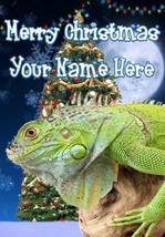 Iguana Merry Christmas Personalised Greeting Card Xmas codeTM204 - $3.90