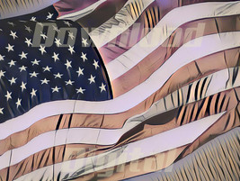 Digital download  flag United States countries vintage Wallpaper Paintin... - $3.00