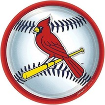 "Amscan St. Louis Cardinals 9"" Round Dinner Plates (18 Ct) - $9.49"