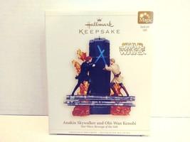 2006 Hallmark Keepsake Anakin Skywalker and Obi-Wan Kenobi Christmas Orn... - $44.99