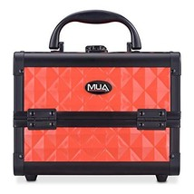 "Mini Makeup Train Case 9.5"" Aluminum Professional Cosmetic Organizer Box... - $29.65"
