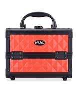 "Mini Makeup Train Case 9.5"" Aluminum Professional Cosmetic Organizer Box... - $29.65"