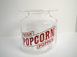 "Fresh Popcorn Popper Glass Jar Canister Replacement Room Decor 7"" - see ... - $9.74"