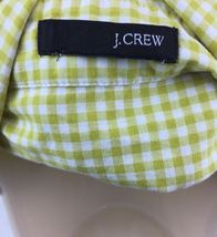 "Girl's J. Crew Green Plaid Button Up 3/4 Sleeve Shirt 20"" L 19"" W 16"" Sleeve image 3"