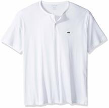 New Lacoste Men's Short Sleeve Henley Jersey Pima Cotton Regular Fit T-Shirt image 2