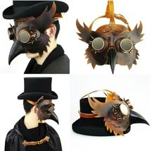 Reenactment Plague Doctor Steampunk Bird Leather Mask Halloween Gothic Cosplay image 8