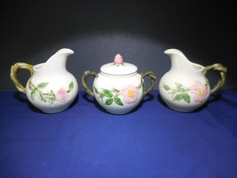 Francisican Eathanware Desert Rose Creamers and Covered Sugar Set - $31.99