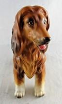 """Vintage Afghan Dog Figurine Lefton H7328 Sticker 5"""" Brown Ceramic Pet - $24.75"""