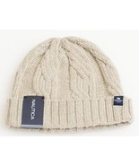 Nautica Light Khaki Wool Blend Knit Cuff Beanie Skull Cap Men's One Size... - $37.12
