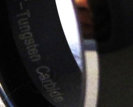 TU6004 Size 12 - Unisex 8mm Black Tungsten Carbide Wedding Ring