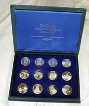 12 Proof Medallic Commemorative Society International 1977 Silver Medal Lot MM 1
