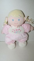 Carters Child of Mine Pink My First Doll Blonde braids flowers Rattle Plush - $26.72