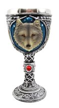 Atlantic Collectibles Large Magical Celtic Blue Remus Ancient Gray Wolf ... - $24.99