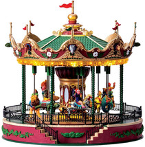 Lemax Village Collection Carnival Village, Elegant Equestrian Carousel 4... - $273.70