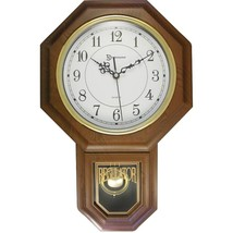 Timekeeper 180WAGM Essex 18.75 Modern Pendulum Wall Clock (Faux Wood) - $65.56