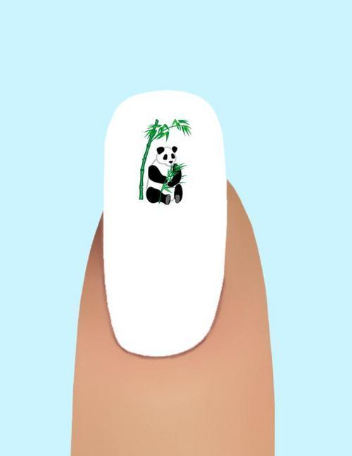 24 Panda Under Bamboo Waterslide Nail Art Decals #237