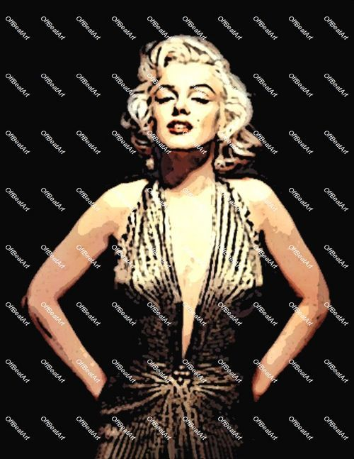 Abstract Hollywood Art Marilyn Monroe Canvas 2