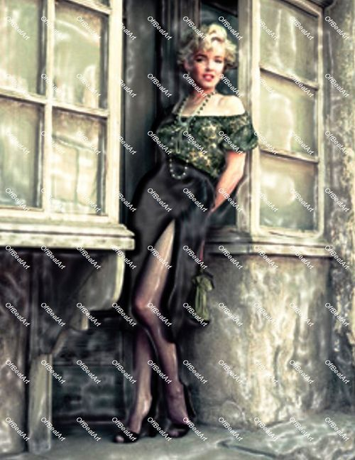 Abstract Hollywood Art Marilyn Monroe Canvas 4