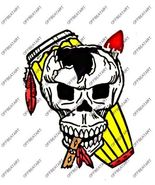 Hot Rat Rod Vintage Window Decal Impko's Indian Drummer - $2.95