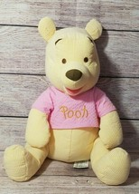 "Disney Store Plush Seersucker Winnie The Pooh Stuffed Animal 16"" - $19.39"