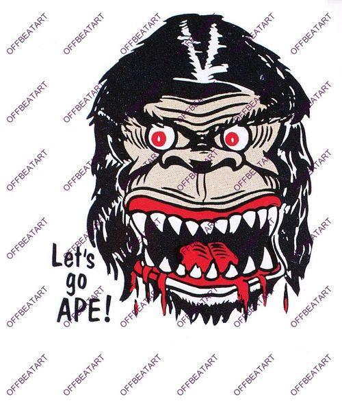 Hot Rat Rod Vintage Window Decal Impko's Let's Go Ape!