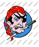Hot Rat Rod Vintage Window Decal Impko's The Pirate - $2.95