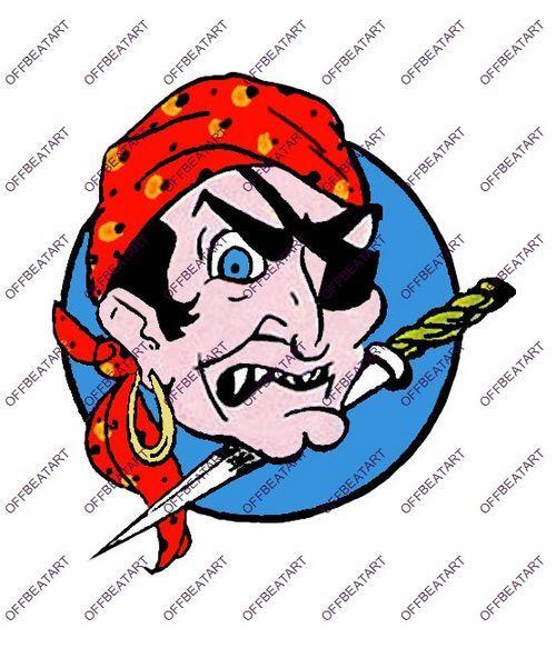Hot Rat Rod Vintage Window Decal Impko's The Pirate