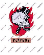 Hot Rat Rod Vintage Window Decal Impko's Playboy - $2.95