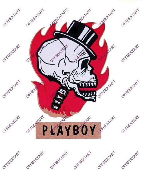 Hot Rat Rod Vintage Window Decal Impko's Playboy
