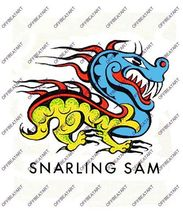 Hot Rat Rod Vintage Window Decal Impko's Snarling Sam - $2.95