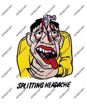 Hot Rat Rod Vintage Window Decal Impko's Splitting Headache - $2.95