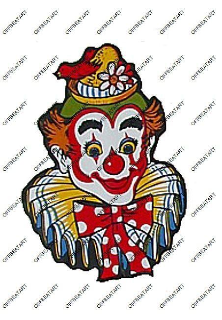 Hot Rat Rod Vintage Window Decal Impko's Clown