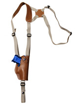 NEW Barsony Vertical Tan Leather Shoulder Holster Sig-Sauer Compact 9mm 40 45 - $59.99