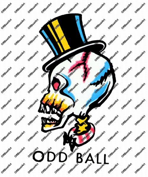 Hot Rod Rat Rod Vintage Window Decal Odd Ball  #46