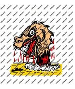 Hot Rat Rod Vintage Window Decal Impko's Water Dragon - $2.95