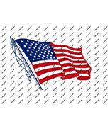 Hot Rat Rod Vintage Window Decal Impko's U.S. Flag - $2.95