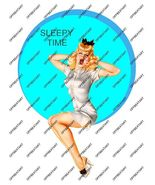 Hot Rat Rod Vinyl Sleepy Time Pinup Decal - $4.95