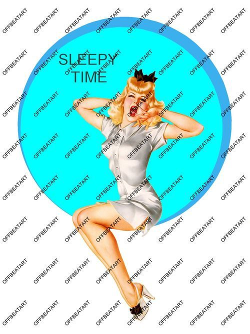 Hot Rat Rod Vinyl Sleepy Time Pinup Decal
