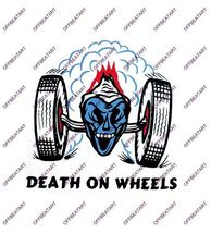 Hot Rat Rod Vintage Window Decal Impko's Death on Wheels - $2.95