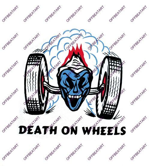 Hot Rat Rod Vintage Window Decal Impko's Death on Wheels